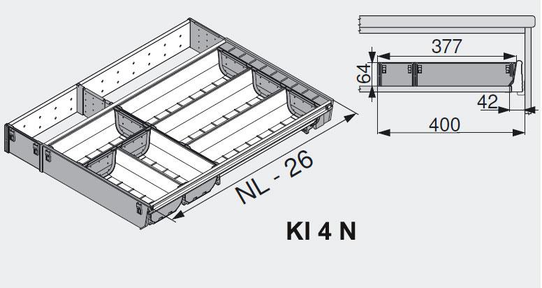 blum orgaline schubladeneinsatz ki 4 n edelstahl ebay. Black Bedroom Furniture Sets. Home Design Ideas