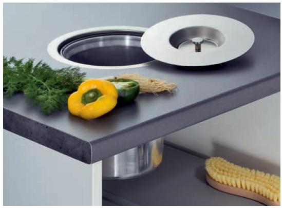 wesco ergomaster m lleimer einbau in arbeitsplatte 5 l kunststoff ebay. Black Bedroom Furniture Sets. Home Design Ideas