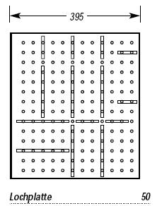 Holz Besteckeinsatz System Belli Box Grundplatte für 50 cm
