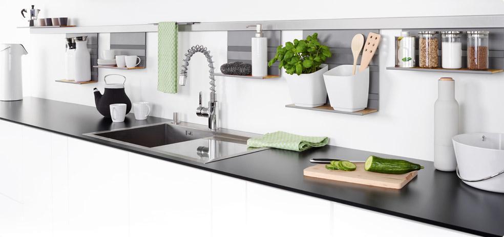Linero mosaiq relingsystem kessebohmer grundstange 60 cm for Relingsystem küche