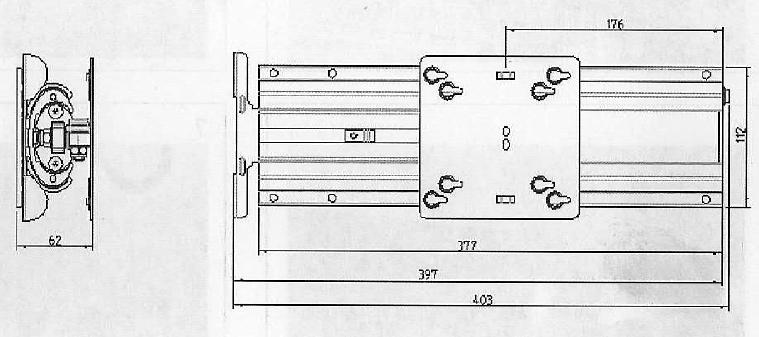 tv drehauszug tv wandhalterung zum einbau in einen schrank ebay. Black Bedroom Furniture Sets. Home Design Ideas